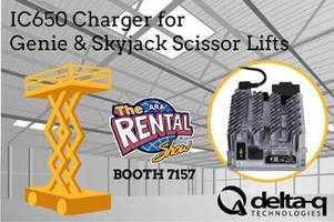 Delta-Q Technologies Introduces New Aftermarket Aerial Work Platform and Utility Vehicle Battery Chargers at the Rental Show 2015
