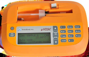 Portable Viscometer simplifies oil condition monitoring.