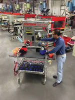 Mobile Tool Carts provide temporary work surface.