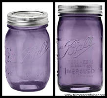 Mason Jars come in purple color.