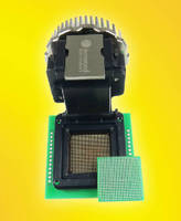 Clamshell BGA Socket features heat sink lid.