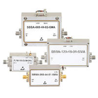 Broadband RF Amplifiers operate from 0.5-40 GHz.