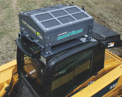 Hydraulic Oil Cooler Attachment enhances skid steer performance.