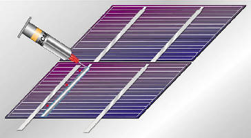 Conductive Adhesive electrically connects solar cells.