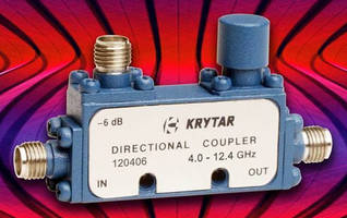 Directional Coupler offers 6 dB coupling over 4.0-12.4 GHz range.