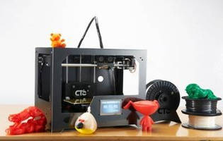 Touchscreen 3D Printer features dual nozzle design.