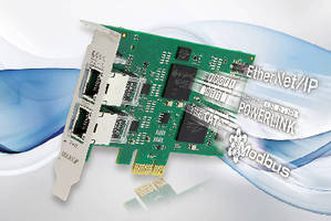 PCIe Card connects PC to any industrial Ethernet network.