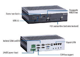 Embedded PC is IEC60945 certified for marine use.