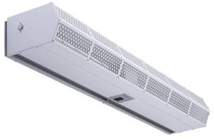 Commercial Low Profile Air Curtains offer length, heating options.