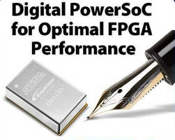Integrated 30 A Digital DC/DC Converter powers Gen 10 FPGAs.