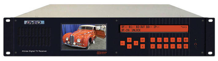 Receiver Demodulator has 4.3 in. LCD monitor and 10 W speaker.