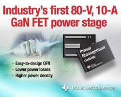 TI Reveals Industry's First 80-V Half-bridge GaN FET Module