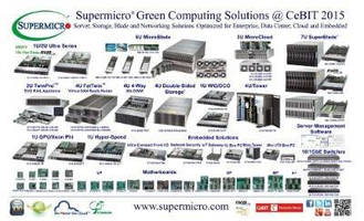 Supermicro® Green Computing Solutions from Ultra Servers to MicroBlade Transform Digital Business @ CeBIT, Hannover