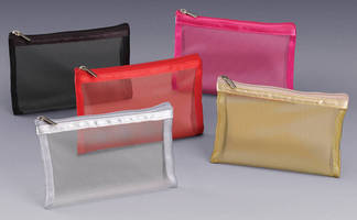 Color Nylon Mesh Pouches feature zipper closure.