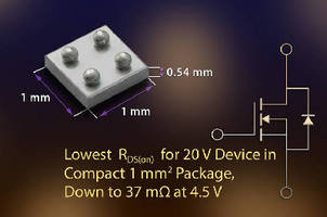 MOSFET extends battery usage in ultraportable applications.