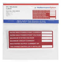 Solar Label Packs help installers meet PV labeling codes.
