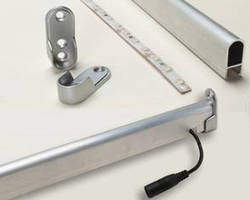 LED Closet Lighting Kit can be trimmed to needs on site.