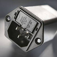 Compact Power Entry Module features ground line choke.