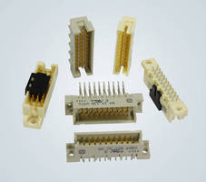 DIN 41612 Male Connectors accommodate dense electronics demands.
