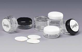 Sampling Jars include writeable labels.