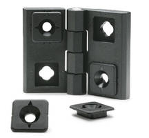 Adjustable Hinges allow for precise positioning.