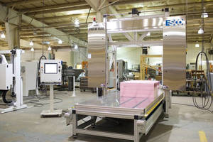 Upgraded Controls on ESCO Machine Help Reduce Urethane Cutting Production Time from 3½ Hours to 20 Minutes