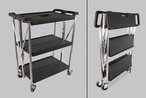 Folding Cart helps conserve backroom space in stores.