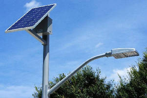 Solar LED Roadway Light creates and stores its own power.