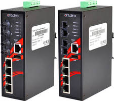 Industrial PoE+ Switches include network management software.