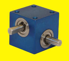 Miniature Gear Drive is rated for 1/8 hp at 1,800 rpm.