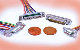 Micro-D Connectors reduce size, weight in miniature electronics.