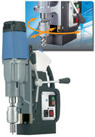 Portable Magnetic Drill facilitates positioning via swivel base.