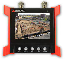 Wrist-Mountable Monitor can power and adjust security cameras.