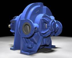 Liquid Ring Compressor operates at up to 60 psig.