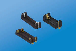 Polarized Battery Holders feature coil spring contacts.