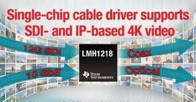 Cable Driver supports SDI- and IP-based 4K video.