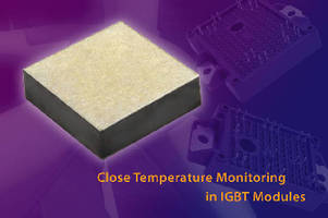 NTC Thermistor Dies offer gold and silver metallizations.