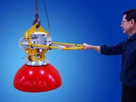 Below-the-Hook Vacuum Generator handles spherical loads.