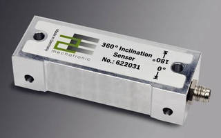 Capacitive Inclination Sensor offers 360° range, high accuracy.