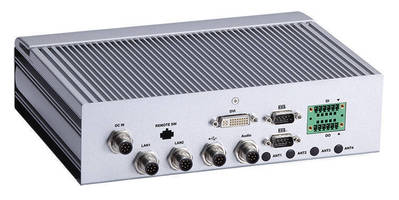 Fanless Embedded Box PC serves railway applications.