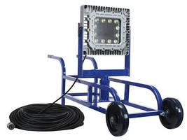 Portable Explosion Proof LED Tank Light operates on 11-25 V DC/AC.