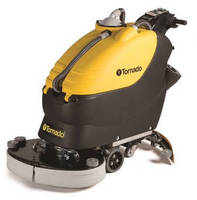 Walk-Behind Scrubber combines narrow profile, wide cleaning path.