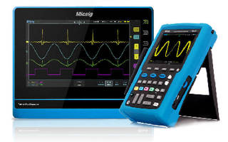 Tablet and Handheld Oscilloscopes use touchscreen technology.
