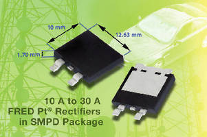 Fast Recovery Rectifiers feature low-profile design.