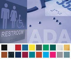 Plastic Sheet Stock suits ADA and wayfinding applications.