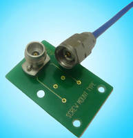 Solderless Coaxial Connector supports up to 50 GHz.