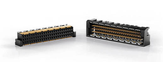 Three-Row Connector delivers data rates up to 25 Gbps.