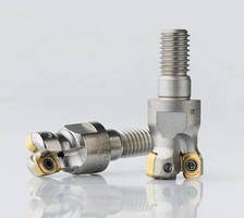 Indexable-Insert Milling Cutters offer optimized speed/feed rate.