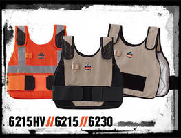 Phase Change Cooling Vests feature honeycomb cooling pack.
