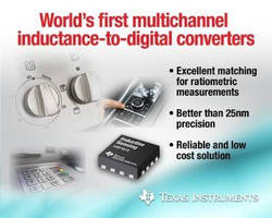 Inductance-to-Digital Converters offer 28-bit resolution.